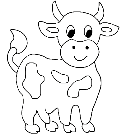 Coloring Pages Animals on Cow 3 Coloring Page