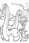 Dinosaur eat coloring page