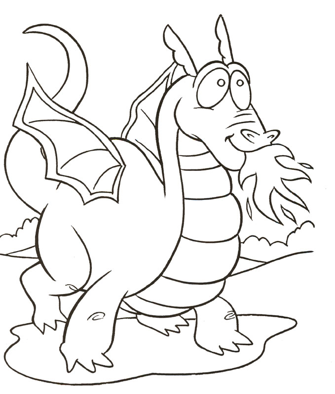 Dragon 3 coloring page