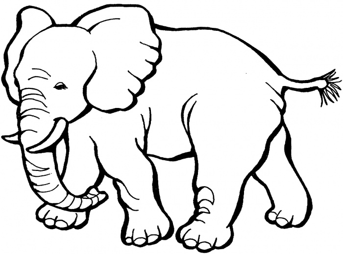 Happy Cartoon Elephant coloring page  Free Printable