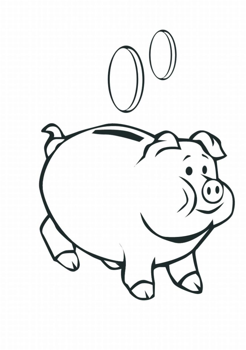 Pig 3 coloring page