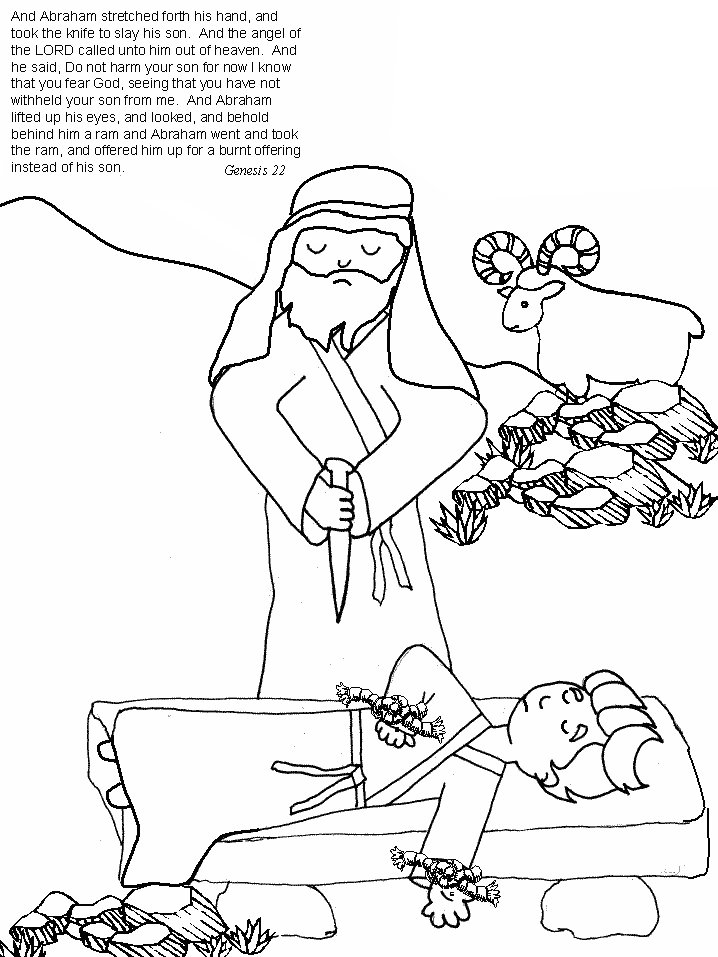 Abraham And Isaac Bible Coloring