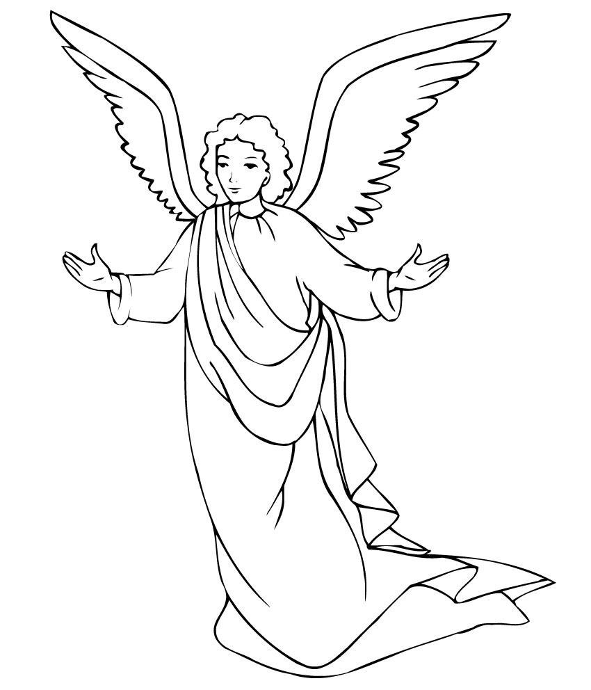 angel 3 coloring page