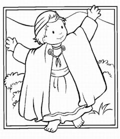 Bible Coloring Pages 4 U: Joshua at the battle of Jericho