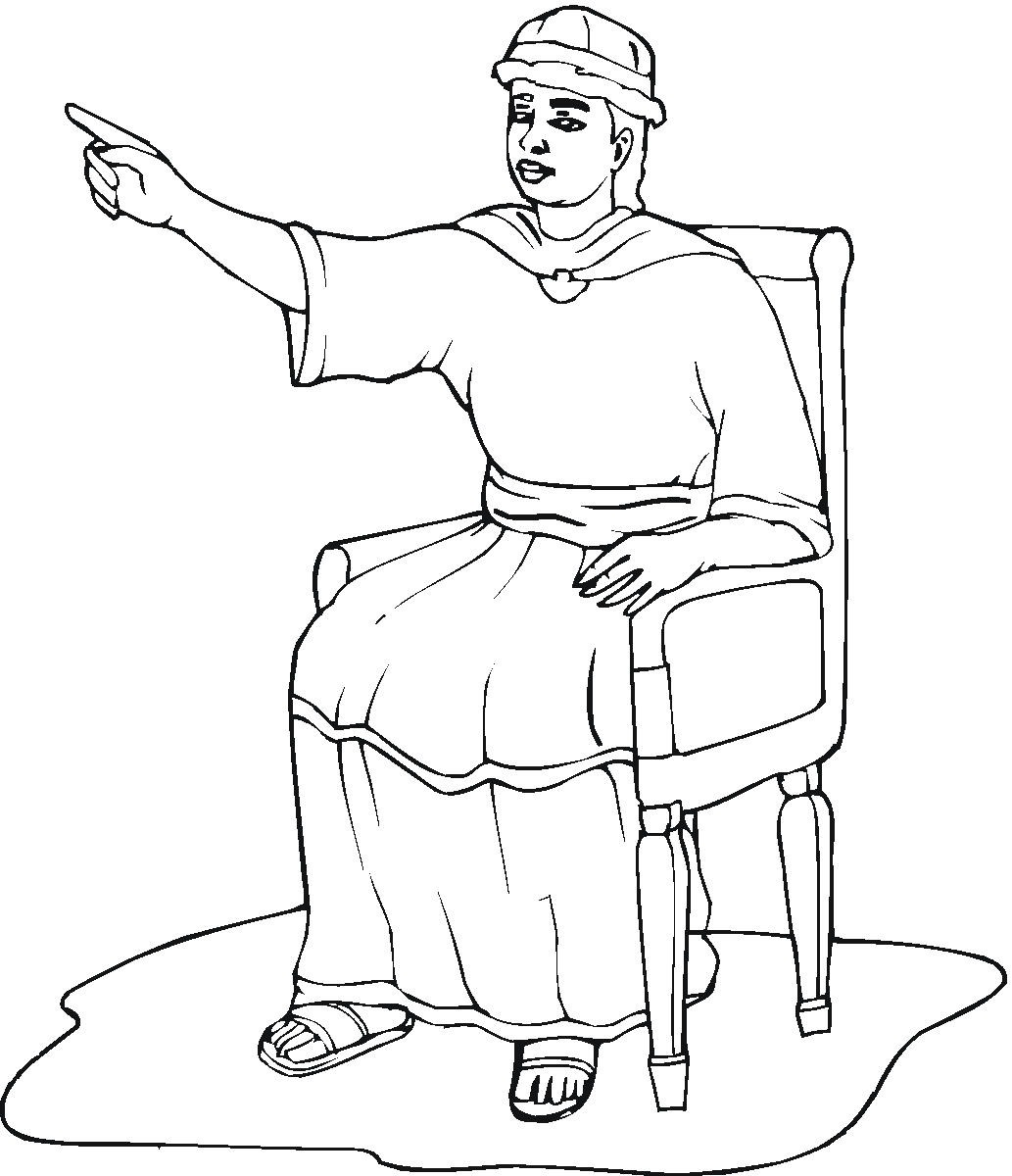 King Solomon Coloring Page King Solomon Coloring Pages