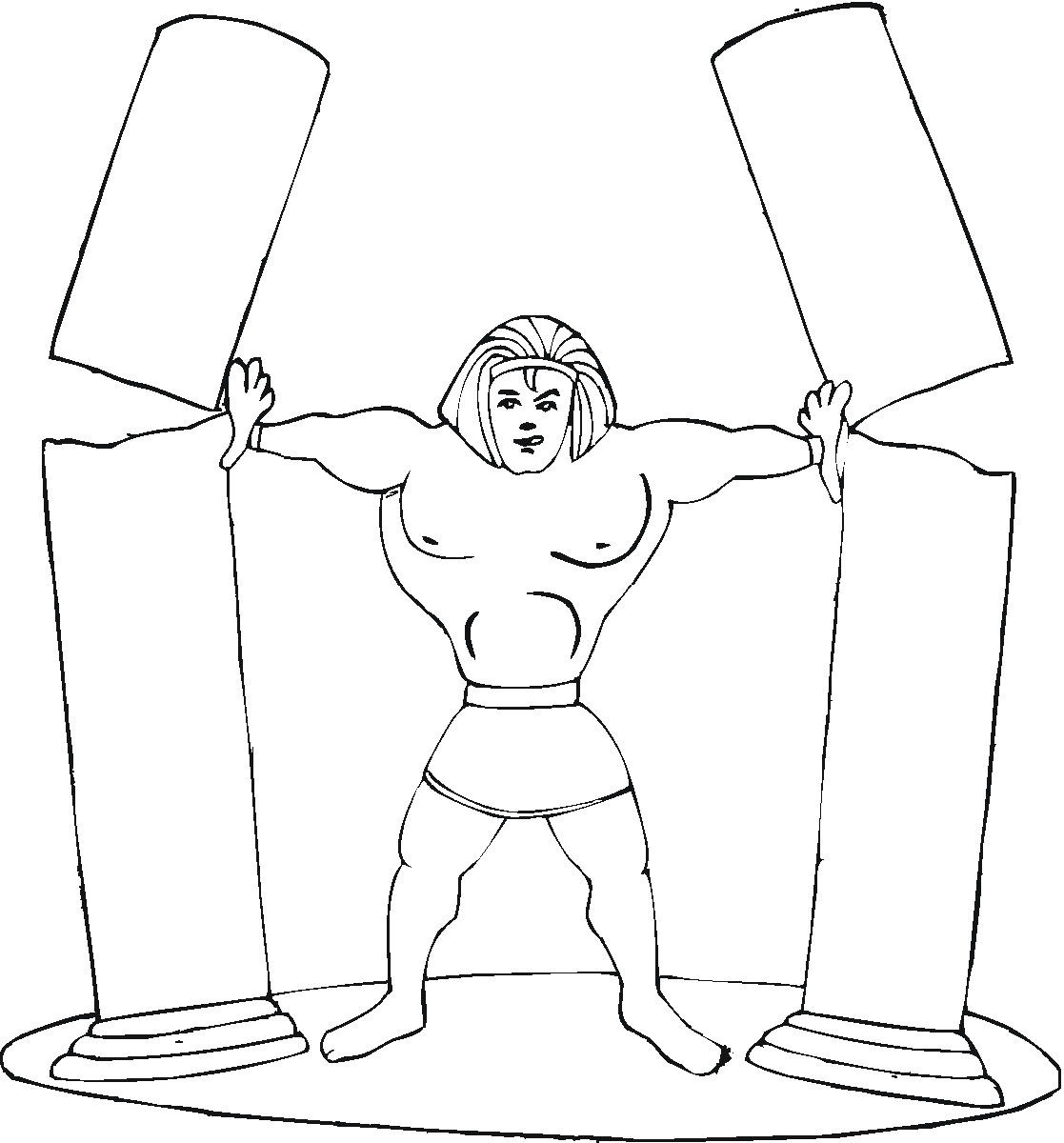 Samson coloring page for Samson and delilah coloring pages