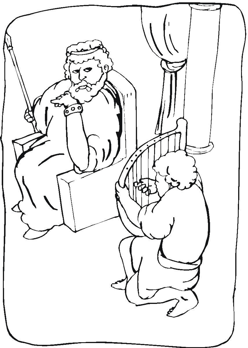 Free Coloring Pages Of David Spares Saul