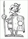 Asterix roman soldier coloring page