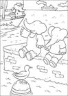 Babar at the sea coloring page