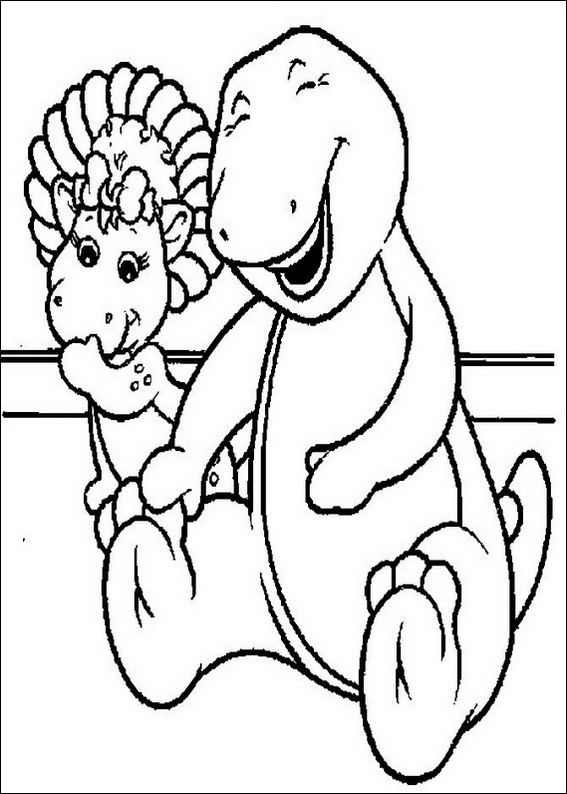 christmas barney coloring pages - photo#31