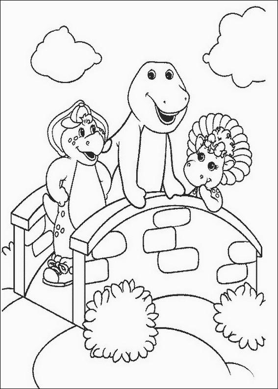 Barney With Friends Coloring Page Barney And Friends Coloring Pages
