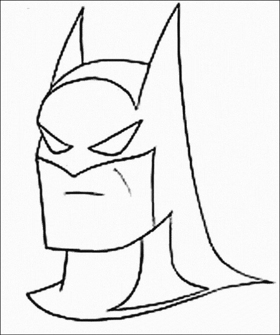 Batman Cartoon Coloring Pages