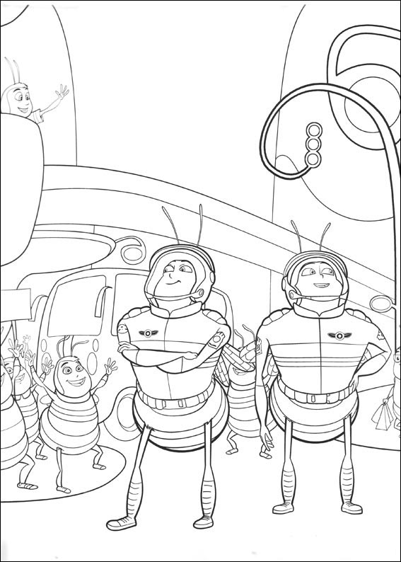 Bee Movie soldiers coloring page