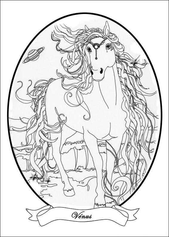 venus coloring page - bella sara venus coloring page