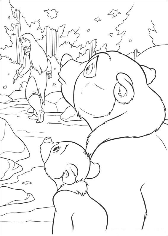 Brother Bear 1 coloring page