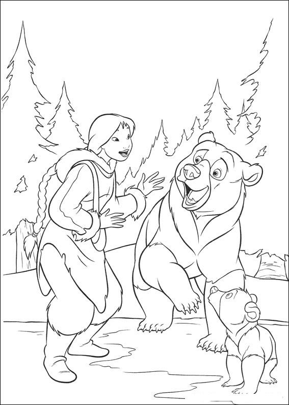 Brother Bear 3 coloring page