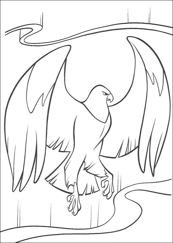 Brother Bear bird coloring page