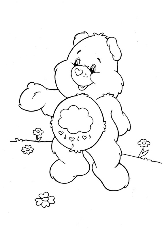 grumpy care bears coloring pages - photo#32