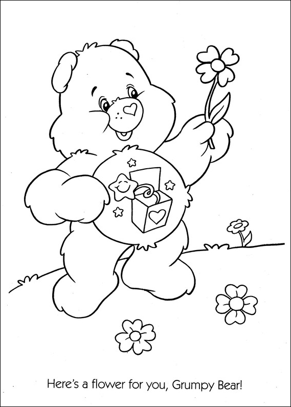 share bear coloring pages - photo#24