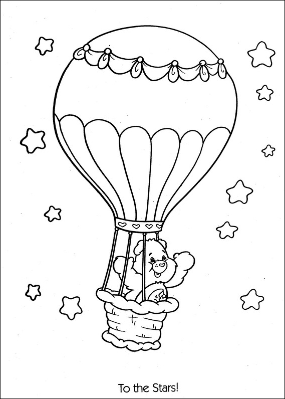 Care Bears ballon coloring page