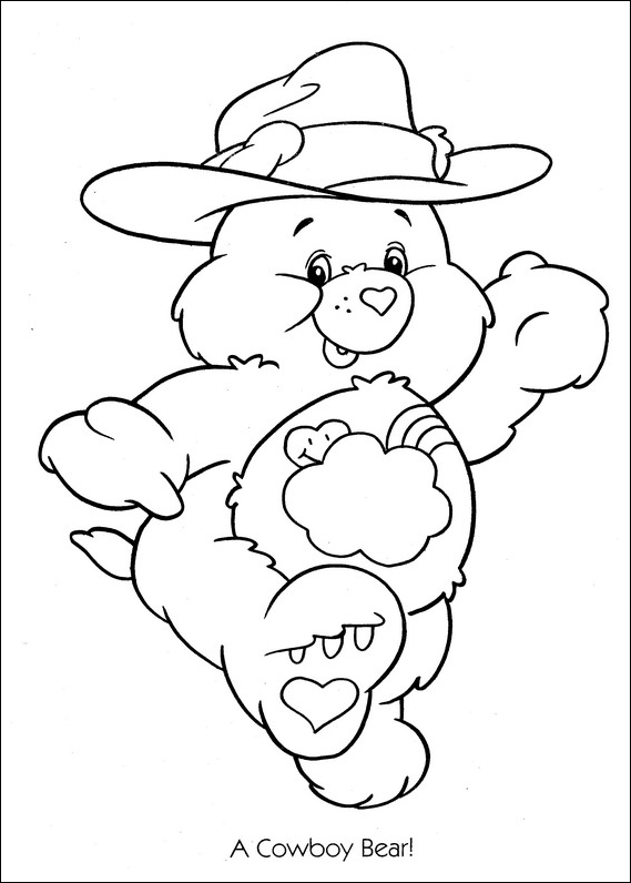 Care Bears Cowboy Coloring Page