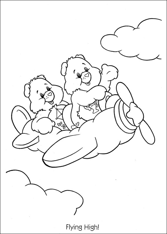 Printable Care Bears Coloring Pages | ColoringMe.com | 796x569