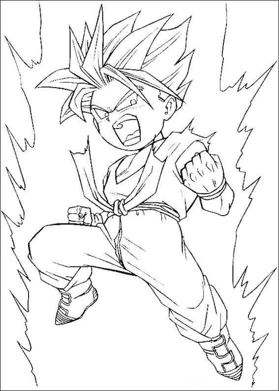 Dragon Ball Z 14 Coloring Page