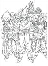 Dragon Ball Z the whole team together coloring page