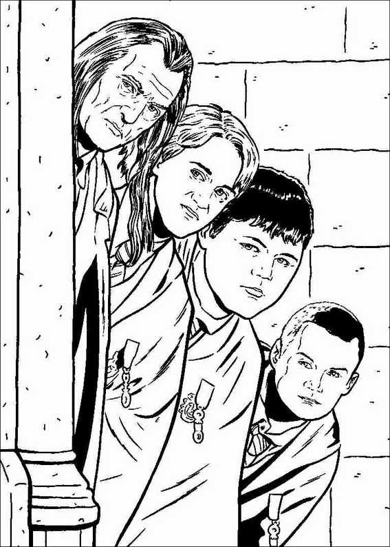 harry potter 015 coloring page - Harry Potter Coloring Pages Ginny