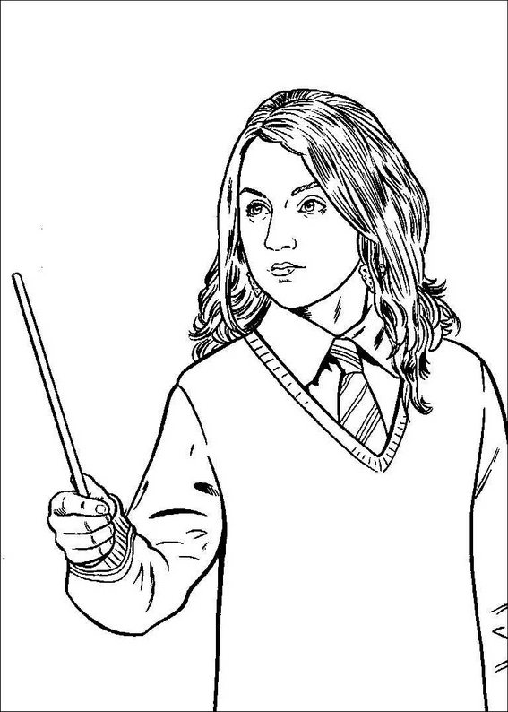 Harry potter 7 colouring pages (page 2)