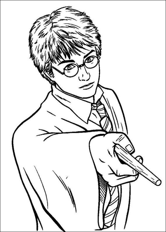 free coloring pages of harry potter color pages Harry Potter Easy Coloring Pages  Coloring In Harry Potter