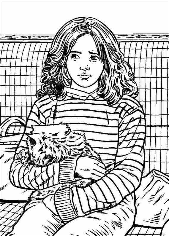 Harry potter 028 coloring page