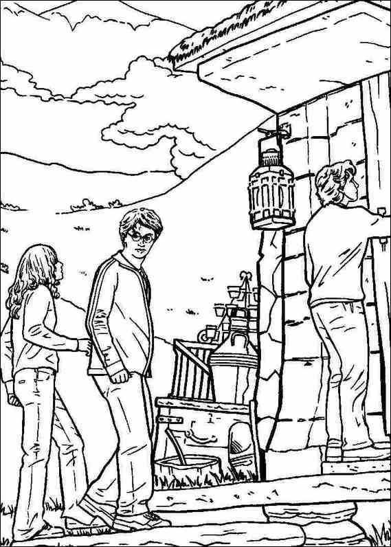 Image of harry potter coloring pages title=