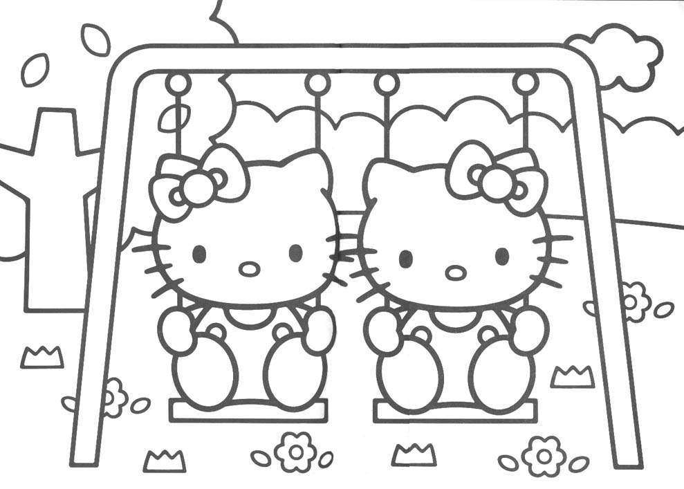 Hello Kitty 2 Coloring Page
