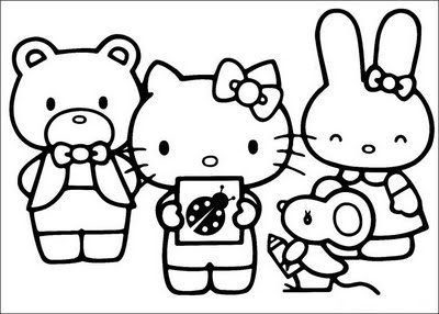 Hello Kitty And Friends 2 Coloring Page