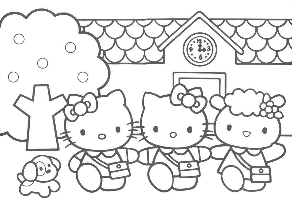 Hello Kitty And Friends 3 Coloring Page And Friends Coloring Pages