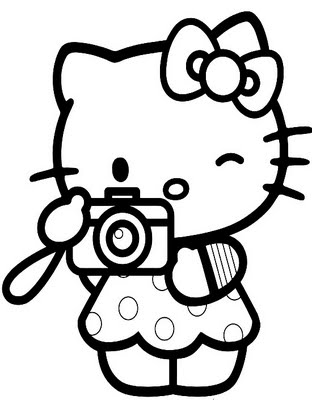 Kitty Coloring Sheets on Hello Kitty Take A Photo Coloring Pages 7 Com Jpg