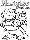 Blastoise Kamex Pokemon coloring page