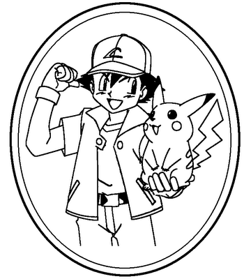 Pikachu Pokemon 2 coloring page