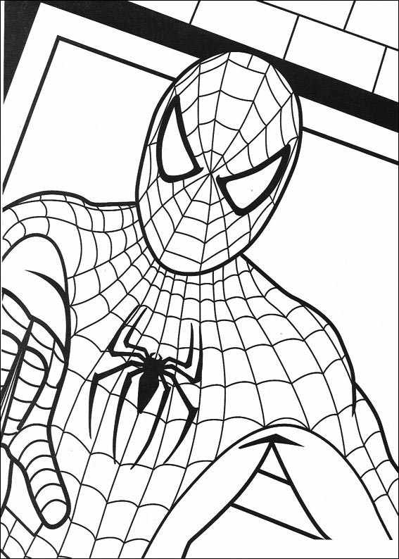 Spiderman 012 coloring page for Stampe da colorare spiderman
