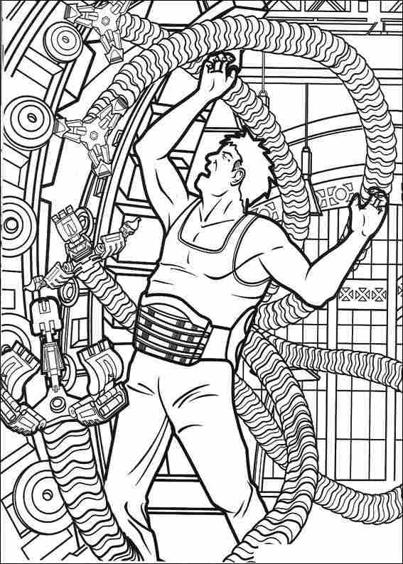 coloring page spiderman marvel comics the amazing spider man for kids coloring page coloring
