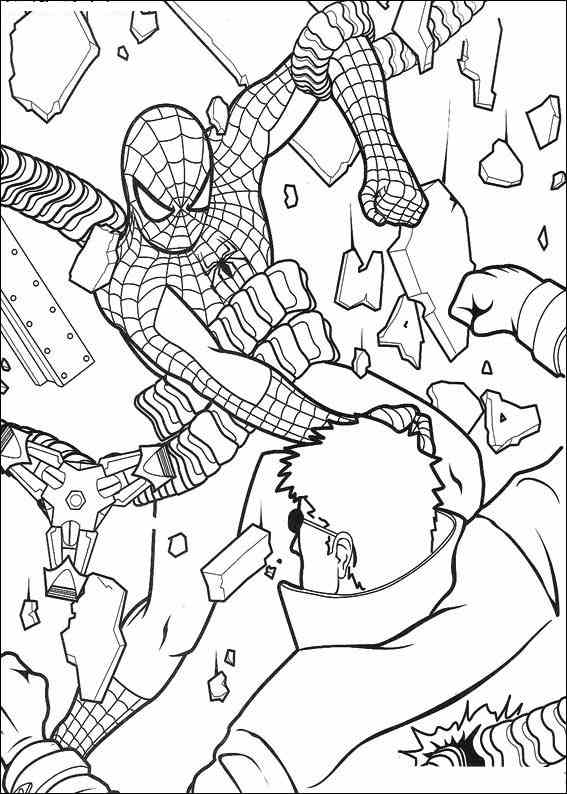 Colouring Sheet Spiderman : Spiderman 054 coloring page