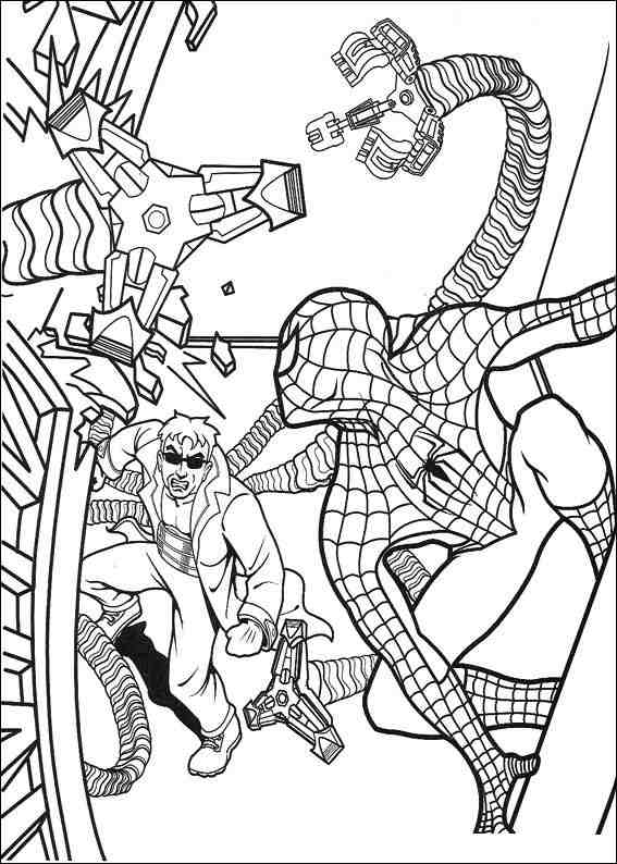 Free Spider Man Villains Coloring Pages