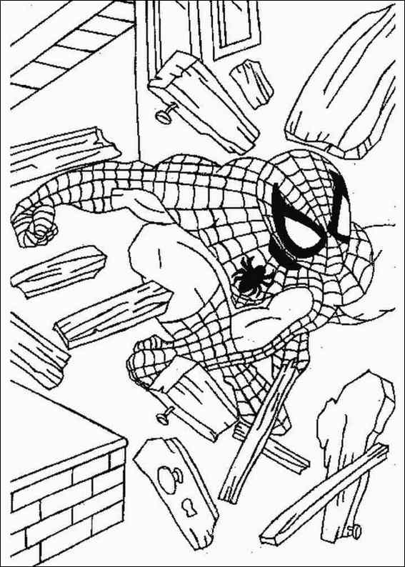 Spiderman 071 coloring page