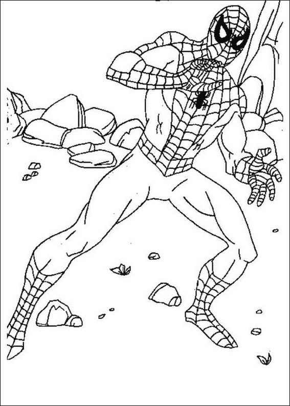 Spiderman 077 coloring page