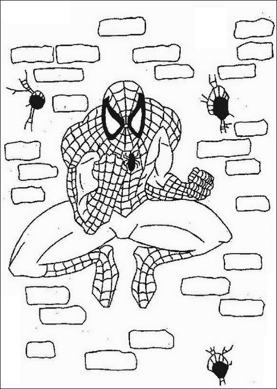 spiderman 080 coloring page