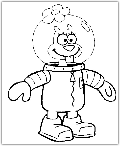 hood spongebob coloring pages - photo#6