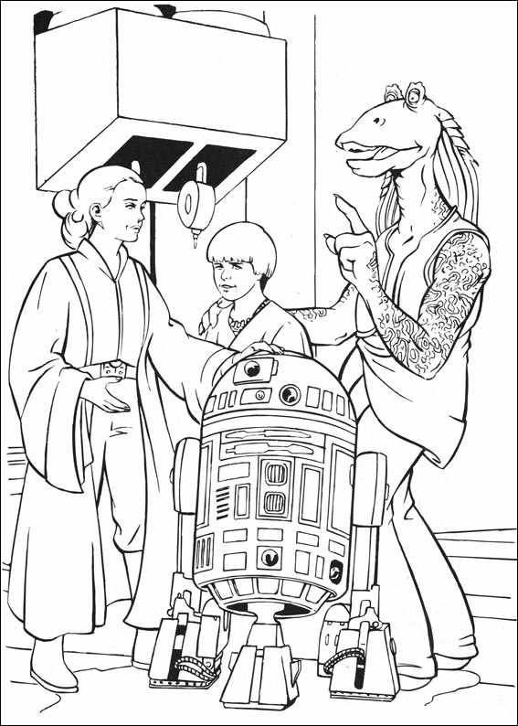 Star Wars To Paint Colouring Pages