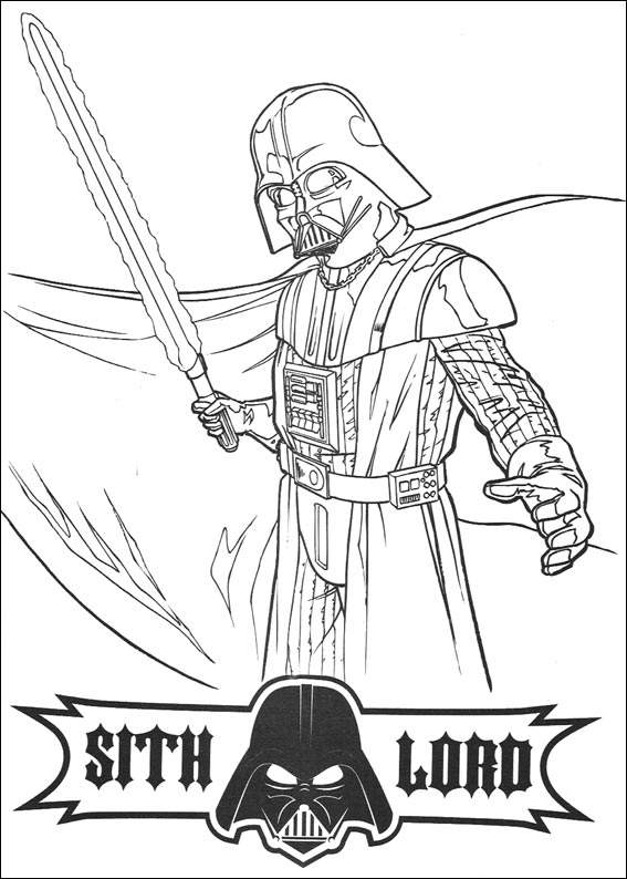 Free Coloring Pages Of Star Wars Scene