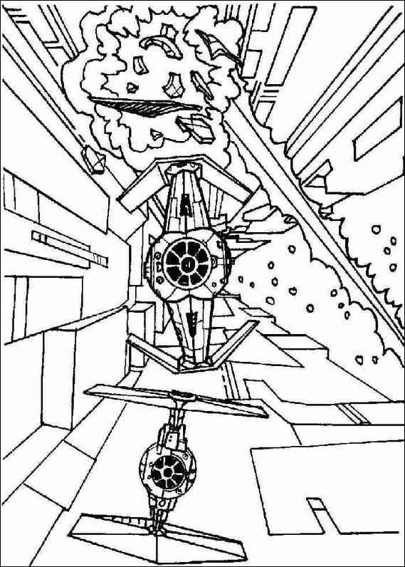 Star Wars Coloring Page Template